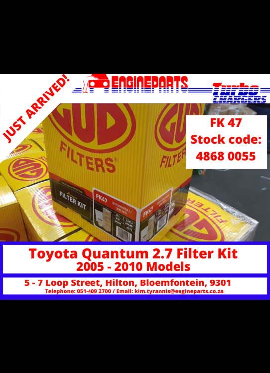 GUD- Toyota Quantum 2.7 Filter Kit